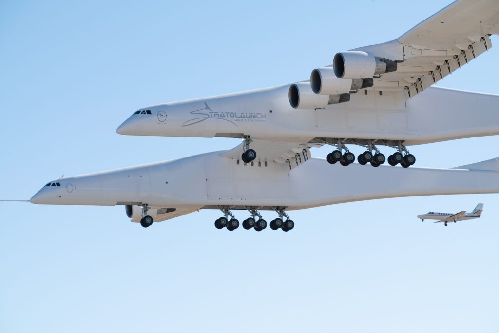 Stratolaunch, the world's largest plane, takes flight
