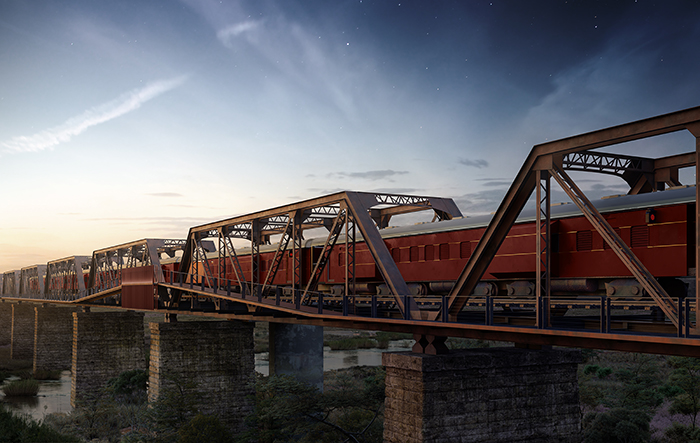 Take a look at the world's first ever elevated train hotel opening in The Kruger National Park