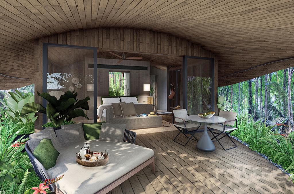 Sleep in a rainforest treehouse at this eco resort