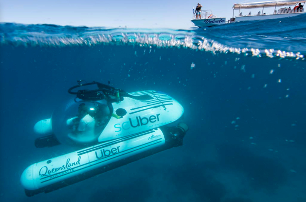 Take an Uber to the bottom of the Great Barrier Reef