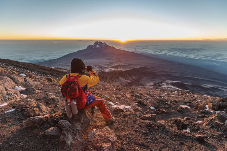 Looking out over Mawenzi, one of Kilimanjaro's three volcanic cones. Image: Matthew Sterne.