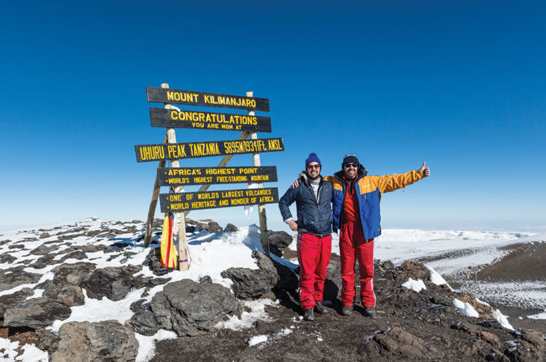 Sterne and Stern on top of Africa! Image: Matthew Sterne.