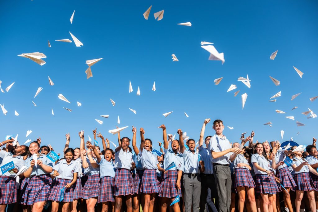 SA students break world record with paper planes