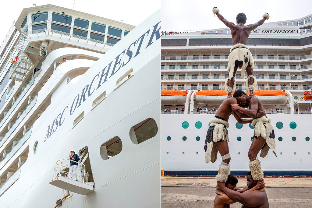 MSC Orchestra docks in Durban as terminal construction begins