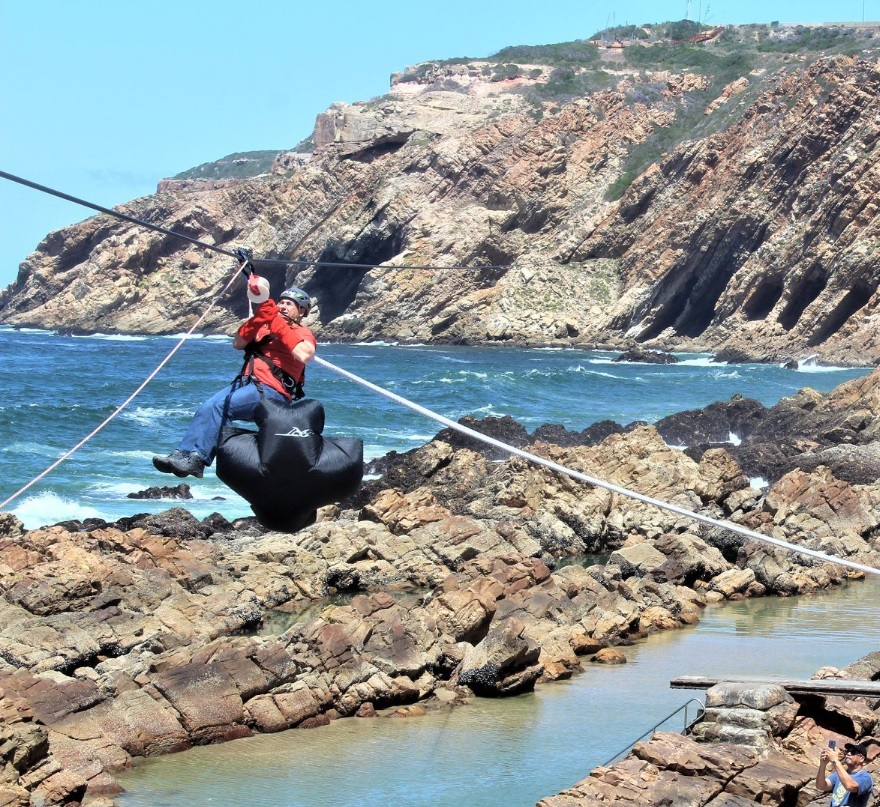 Mossel Bay over-ocean zipline officially opens