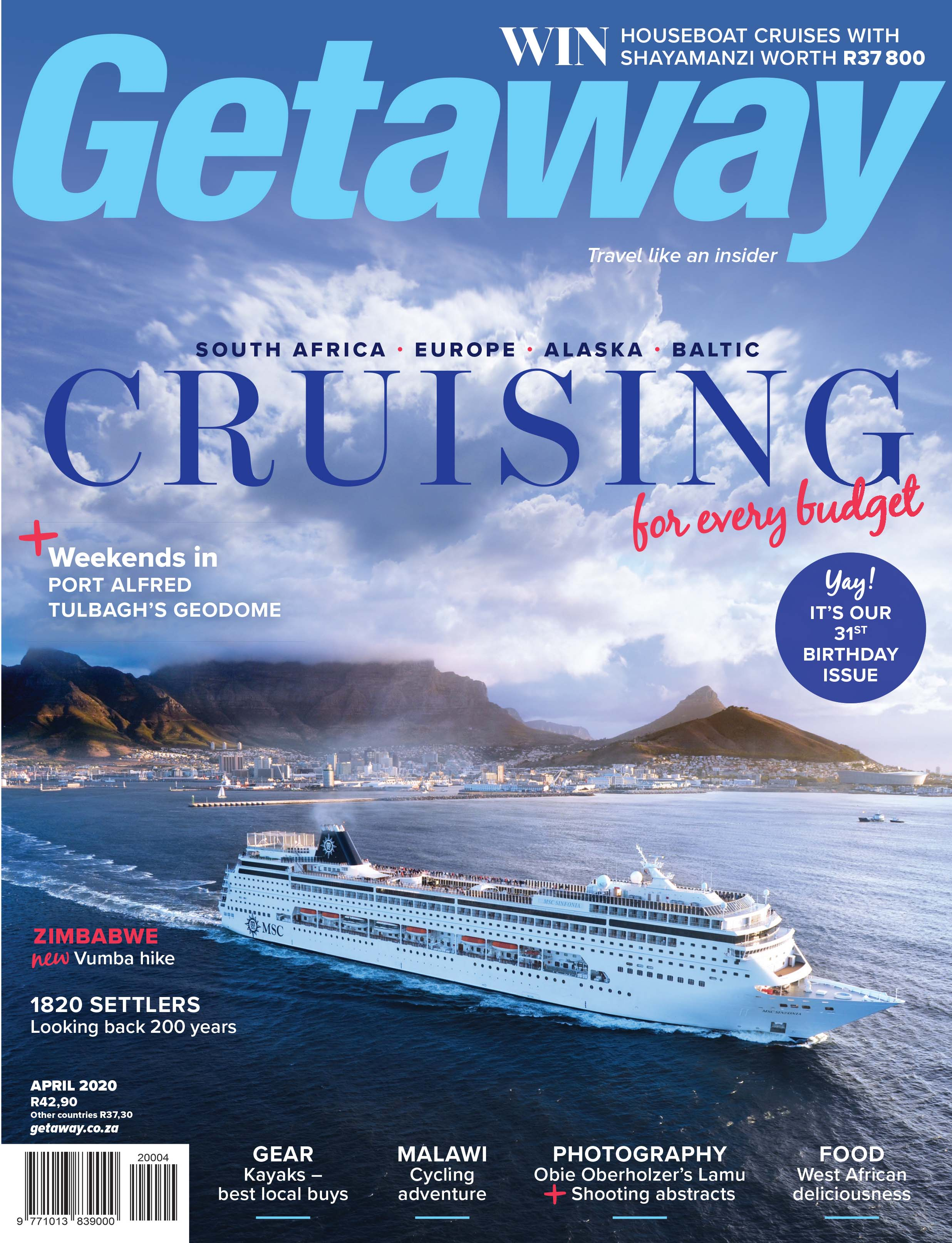 Getaway April 2020 cover – Cruising
