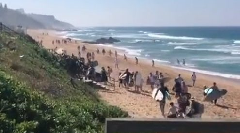 SA beaches swamped with people