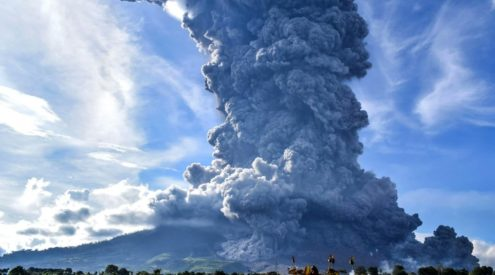 Indonesian volcano erupts twice in three days