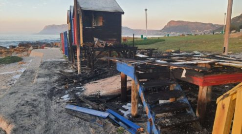 Iconic St James beach bathing boxes burnt