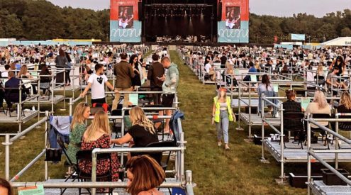 UK hosts first socially distanced music festival