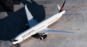 Air Canada is using its all-business class aircrafts for commercial flights