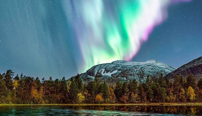 Name the northern lights in Arctic Europe