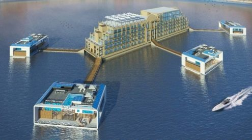 Luxury floating resort is scheduled to open on the Dubai Marina