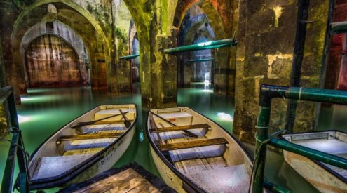 Explore this underground reservoir in Israel by boat