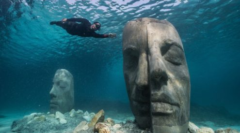 France builds underwater sculptures to attract marine life