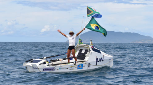 Zirk Botha reaches Brazil, completing 7,200km solo row