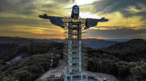Brazil's new 43 meters tall statue