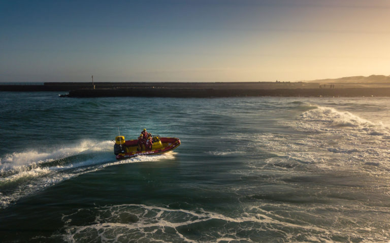 Trigger and the National Sea Rescue Institute Take to the Open Water