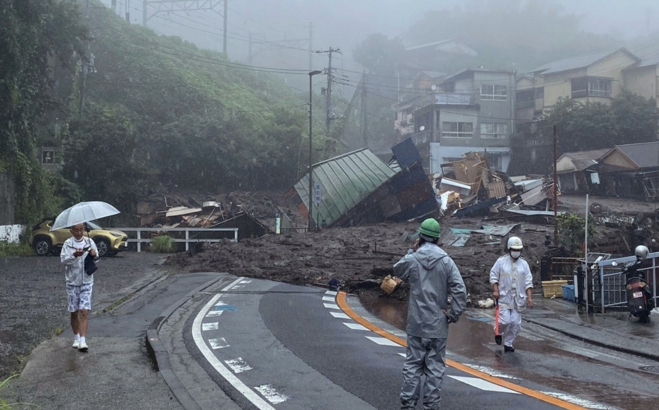 Three dead and 80 missing after landslide in Japanese town